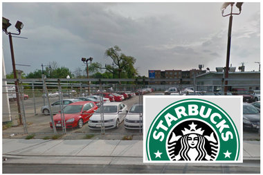 A strip mall including a drive-thru Starbucks would replace a long vacant lot at the corner of Irving Park Road and Central Avenue, according to a proposal submitted by developer Sumac.