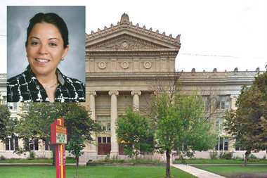 Saucedo Elementary Principal Isamar Vargas Colón is one of more than 50 principals who have resigned from Chicago Public Schools this year.
