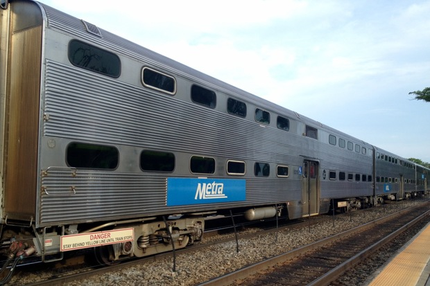 A Metra train photographed Thursday, June 9, 2016