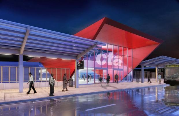 Renderings show the new 95th Street terminal.