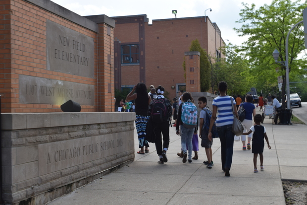 Some parents had rallied to get Eugene Field and New Field Elementaries in Rogers Park merged under one administration, though CPS said it wouldn't happen in 2017.