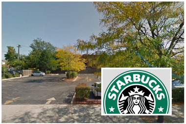 The drive-thru Starbucks — set to include seating and a patio — would be built at Cicero and Berteau.