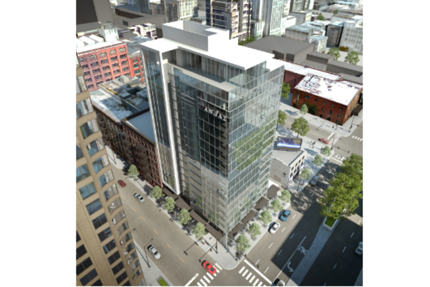 Here's a look at the 18-story hotel proposed for the northwest corner of LaSalle and Hubbard streets.