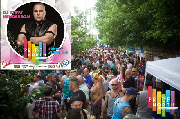 Steve Henderson, a Chicago DJ, is no longer listed as playing at the Pride North festival.