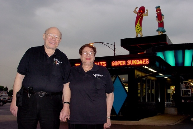 Chicago Superdawg Drive Through Restaurant