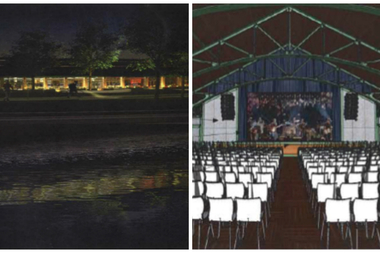 Renderings of the renovated Theater on the Lake.