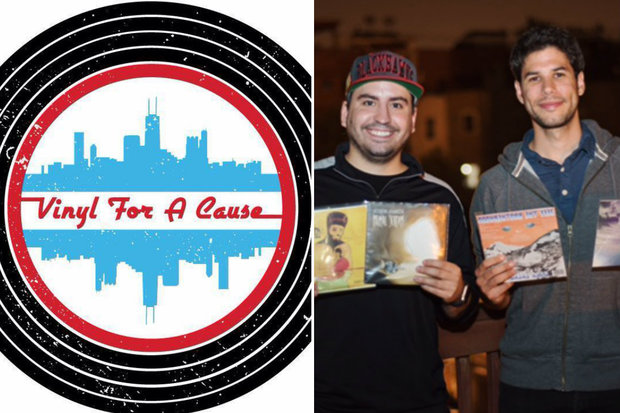 Vinyl For A Cause co-founders Charlie Greengoss (r.) and Adam Victorn. The company is launching a fundraiser to press 500 vinyl records for six Chicago-based bands.