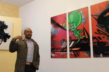 Andre Guichard, an artist and curator at Gallery Guichard, which is considering an expansion with the recovery of the art market.