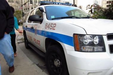 A Chicago police vehicle.