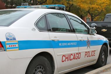 Two men stabbed another man in the back on the Northwest Side Tuesday afternoon, police said.
