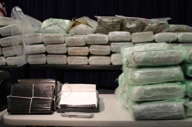Police recovered hefty amounts of cocaine and marijuana following the execution of search warrants this week.