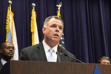 Garry McCarthy announced Thursday in a statement that the city's October murder rate decreased from that of 2012. (file photo)