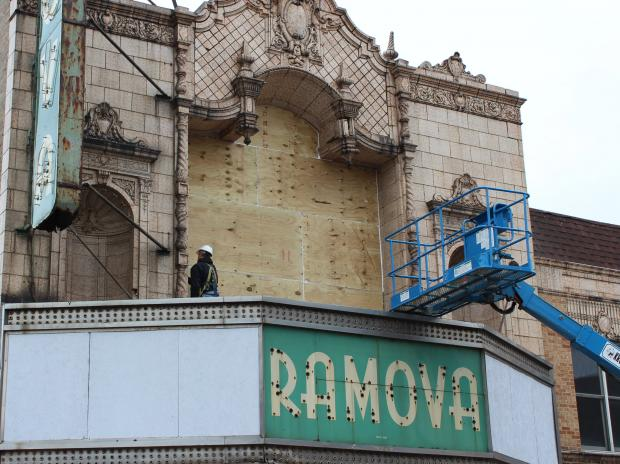 Neighbors of Bridgeport's long-shuttered Ramova Theater are hoping to lure developers to renovate the theater, which they say would bolster development along the slumping Halsted Street corridor.