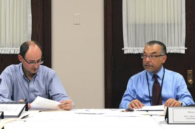 Von Steuben Principal Pedro Alonso (right) said the high school had achieve the top rating.