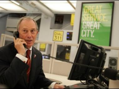 Calls to 311 went unanswered or rang busy on Oct. 28, 2012, as New Yorkers tried to get emergency information regarding evacuations for Hurricane Sandy. Here Mayor Bloomberg answered a phone call in 2010 to honor the 100 millionth call to come into 311.