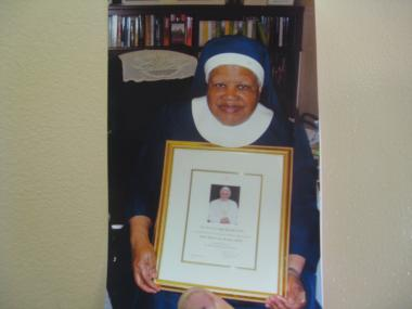 Sister Celine Graham was on her way from the Handmaids of Mary Church to physical therapy with her aide, Patricia Cruz, when she was struck and killed by a car.