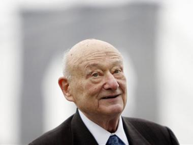 Former New York Mayor Ed Koch was hospitalized Tuesday for anemia.