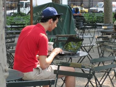 Free Wi-Fi service has long been available in Bryant Park.