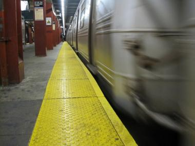 A man was struck and seriously injured by a train at the Smith-9th Street station on May 1, 2012.