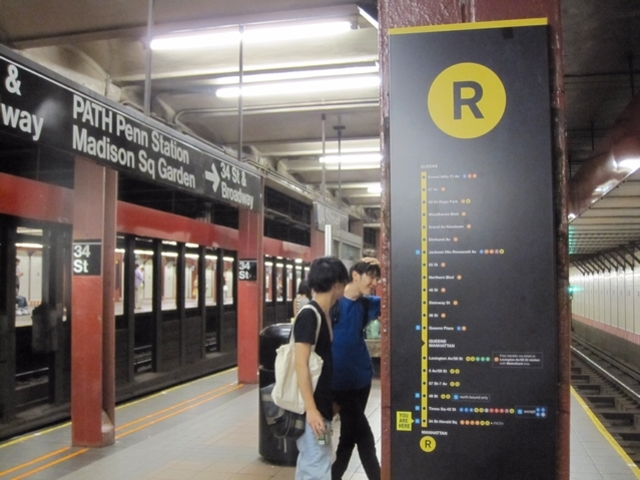 Subway Map R Train.Mta Trying Out New Subway Maps Strip Signs