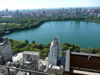 The Central Park Reservoir.