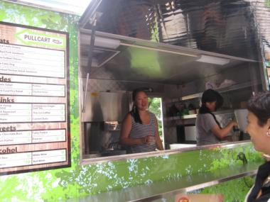 Pullcart, a food truck from the people behind Fatty Crab, served visitors to Central Park during the Taste of Parks event on July 22, 2011.
