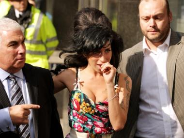 Singer Amy Winehouse's last recording session made the big screen in