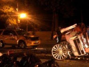 A witness snapped a photo of the July 25 horse carriage accident.