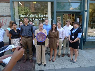 City Councilwoman Gale Brewer says that she was mistreated by police at the Gay Pride Parade