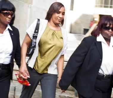 Nafissatou Diallo, 32, leaving her meeting with prosecutors on July 27, 2011.