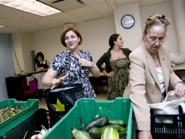 The City Council welcomes fresh produce as part of its Community Supported Agriculture program.