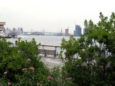 Stuyvesant Cove Park combines local ecology, green energy, walking and bike paths, along with stunning views of the East River.