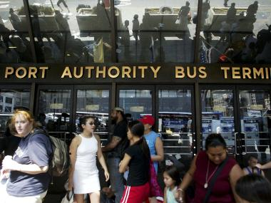 A gas leak prompted the partial evacuation of the south wing of the Port Authority on January 2, 2013.