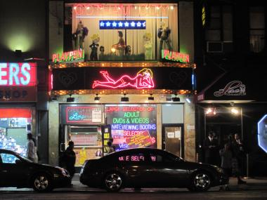 The Eighth Avenue sex shop is one of a handful of venues where Sheila McClear danced.