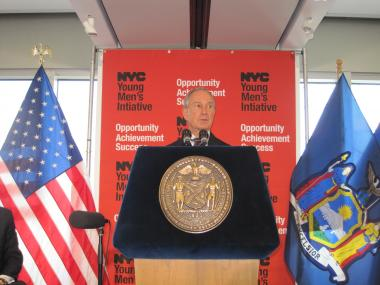 Mayor Michael Bloomberg announced details of the Young Men's Initiative Thursday, Aug. 4.