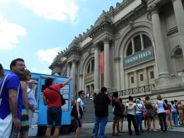 On Friday, huge crowds bombard the Metropolitan Museum of Art for the Alexander McQueen exhibition.