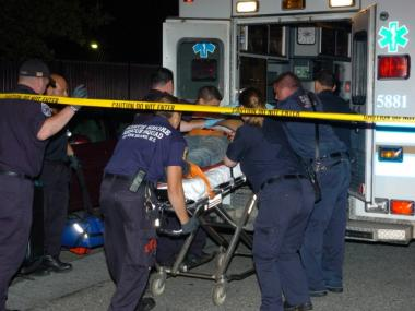 Medics tend to Shytik Bowman, of Alphabet City, when he was shot on Aug. 4, 2011, near his aunt's house on Staten Island.