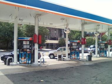 A safe with receipts was discovered at this Gulf gas station at 800 St. Nicholas Ave. on Aug. 7, 2011. The contents were being investigated.
