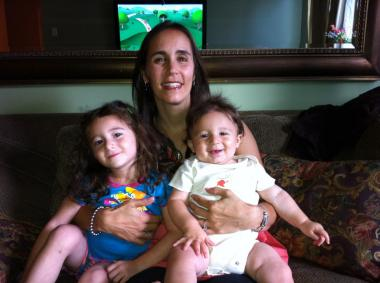 Debra Dermack saved her children, Hannah and Samuel, from an out-of-control truck on Thursday, Aug. 4, 2011.