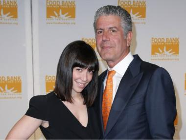 Ottavia Bourdain (L) and food star husband Anthony Bourdain attend the 8th Annual Can-Do Awards Dinner at Pier Sixty at Chelsea Piers on April 20, 2010.