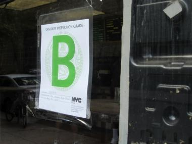 Council members proposed slapping subway stations with letter grades, like this.