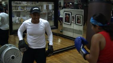 Teresa Scott coaches teaches dozens of women the finer points of boxing.