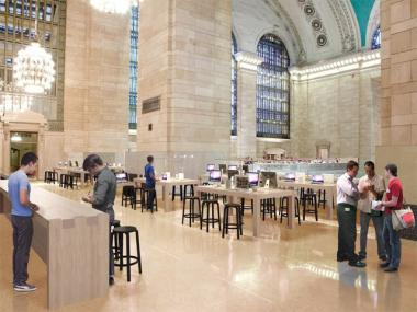 A rendering of the Grand Central Apple store, which is slated to open in the fall 2011.