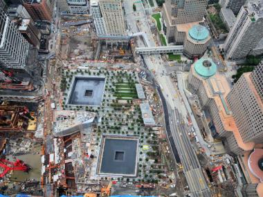 The 9/11 Memorial and Museum was taking shape on Aug. 13, 2011.