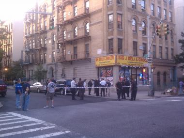 Shots rang out on Madison Avenue near East 131st Street where a church service was getting underway on Aug. 16.