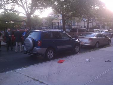 Two men were shot on Aug. 16 in Harlem, including one man who was on his way to church services, witness said.