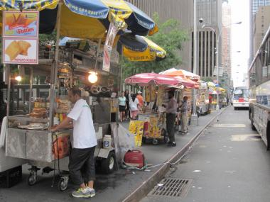 Many of the food carts have been around for years.