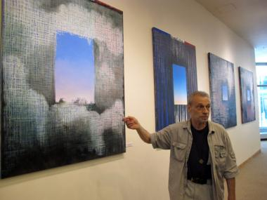 EJay Weiss painted 12 canvases as part of his 9/11 series,