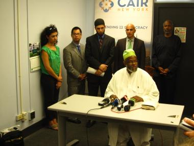 Imam Talib Abdur-Rashid, president of the Islamic Leadership Council of New York, joined other Muslim leaders to speak out against the NYPD's alleged spying program on Muslim-Americans at a Wednesday, Aug. 24, press conference at the Council on American-Islamic Relations.