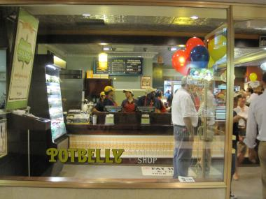 Potbelly Sandwich Shop arrived at Rockefeller Center on August 24, 2011.